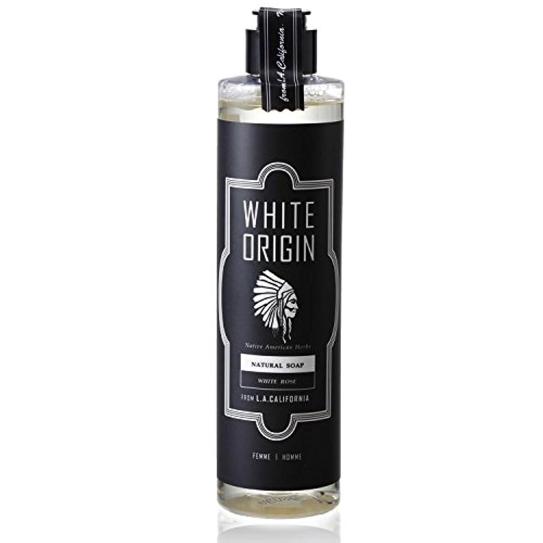 タイル所有権メッセンジャーWHITE ORIGIN ボディソープ 300ml 加齢臭 ケア オーガニック ナチュラル 男前 乾燥 ホワイトローズ
