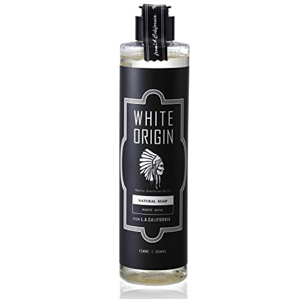 バラエティアナウンサー彼らはWHITE ORIGIN ボディソープ 300ml 加齢臭 ケア オーガニック ナチュラル 男前 乾燥 ホワイトローズ