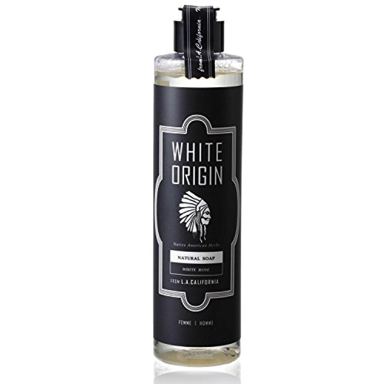 樫の木トークン無線WHITE ORIGIN ボディソープ 300ml 加齢臭 ケア オーガニック ナチュラル 男前 乾燥 ホワイトローズ