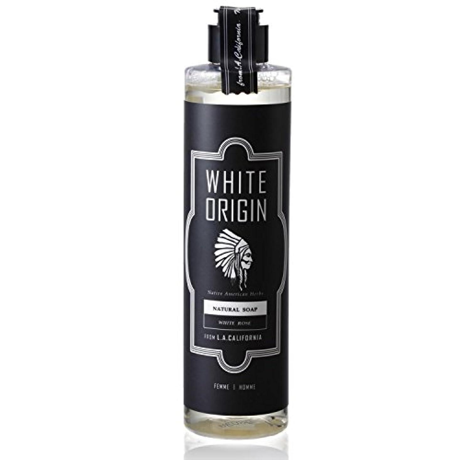 何故なの特徴づけるぐったりWHITE ORIGIN ボディソープ 300ml 加齢臭 ケア オーガニック ナチュラル 男前 乾燥 ホワイトローズ