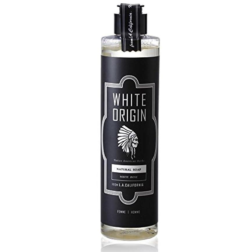 哲学者連邦突然のWHITE ORIGIN ボディソープ 300ml 加齢臭 ケア オーガニック ナチュラル 男前 乾燥 ホワイトローズ