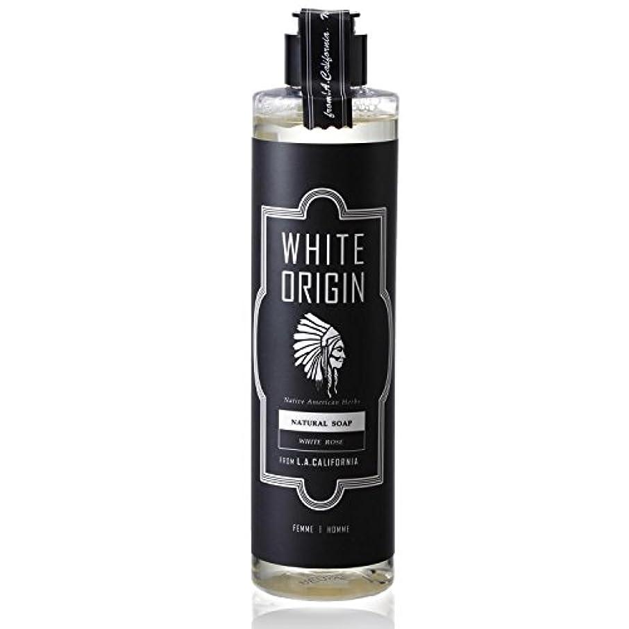 流体合唱団気分WHITE ORIGIN ボディソープ 300ml 加齢臭 ケア オーガニック ナチュラル 男前 乾燥 ホワイトローズ