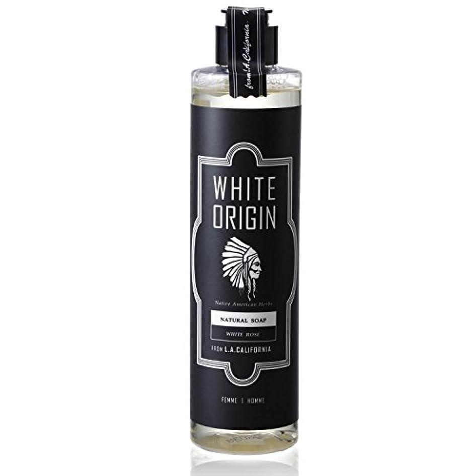 なんとなくスキャン先のことを考えるWHITE ORIGIN ボディソープ 300ml 加齢臭 ケア オーガニック ナチュラル 男前 乾燥 ホワイトローズ