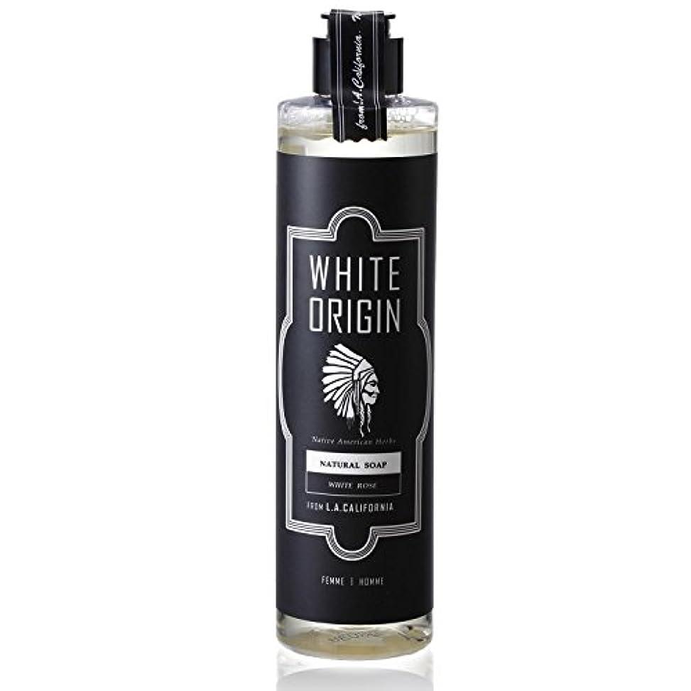 タンク立派な瞑想WHITE ORIGIN ボディソープ 300ml 加齢臭 ケア オーガニック ナチュラル 男前 乾燥 ホワイトローズ