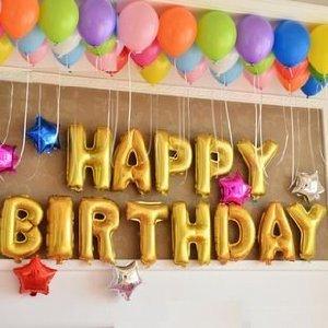 RoomClip商品情報 - [MB04]誕生日おめでとう!を文字にしてみました。 HAPPY BIRTHDAY 文字 風船 / 誕生日 バースデーパーティー アニバーサリー    などに (HAPPY BIRTHDAY)