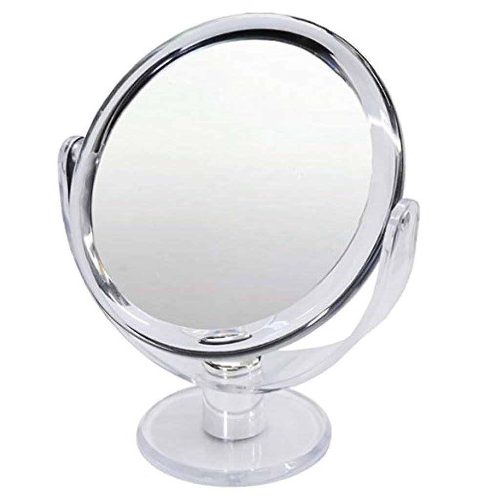 スクラブ民主主義操縦する10倍 拡大鏡 スタンドミラー 等倍鏡と10倍鏡の両面鏡