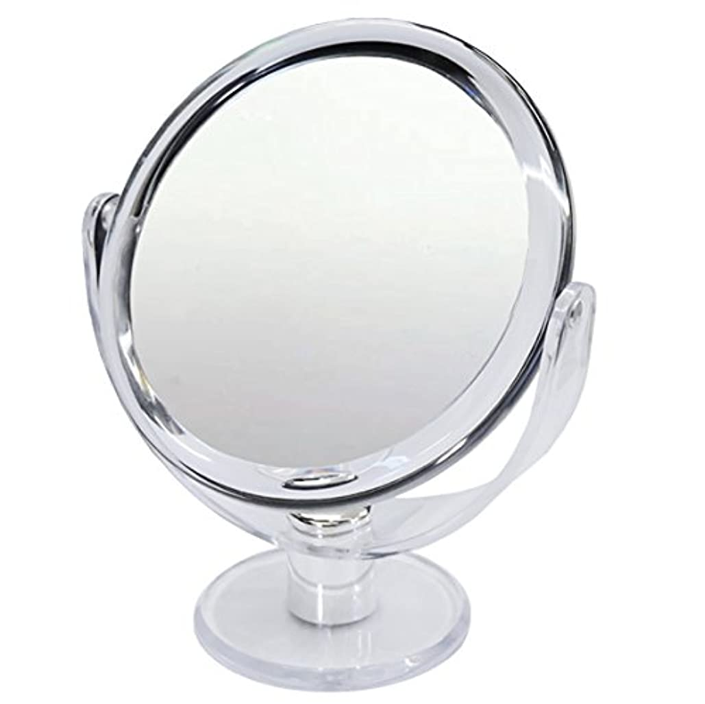 事故月数字10倍 拡大鏡 スタンドミラー 等倍鏡と10倍鏡の両面鏡