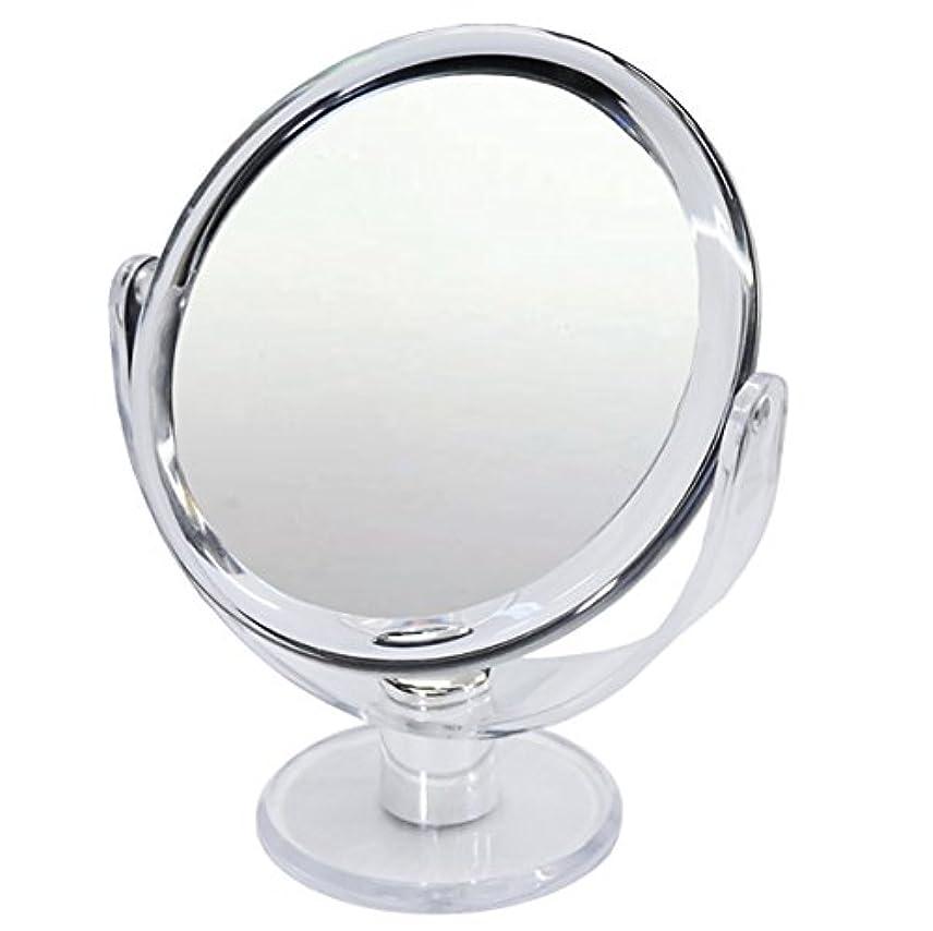 属するシェルター浅い10倍 拡大鏡 スタンドミラー 等倍鏡と10倍鏡の両面鏡