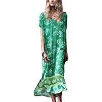 123f5e9cc2 Bsubseach Women Bathing Suits Cover Up Ethnic Print Kaftan Beach Maxi Dress