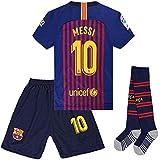 seryhr-tx Messi 10 Barcelona Home Kids Socce Jersey 2018/2019 Season.Matching Shorts,Socks.