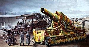 1/35 ドイツ軍 カール重自走臼砲 後期型 鉄道運搬車