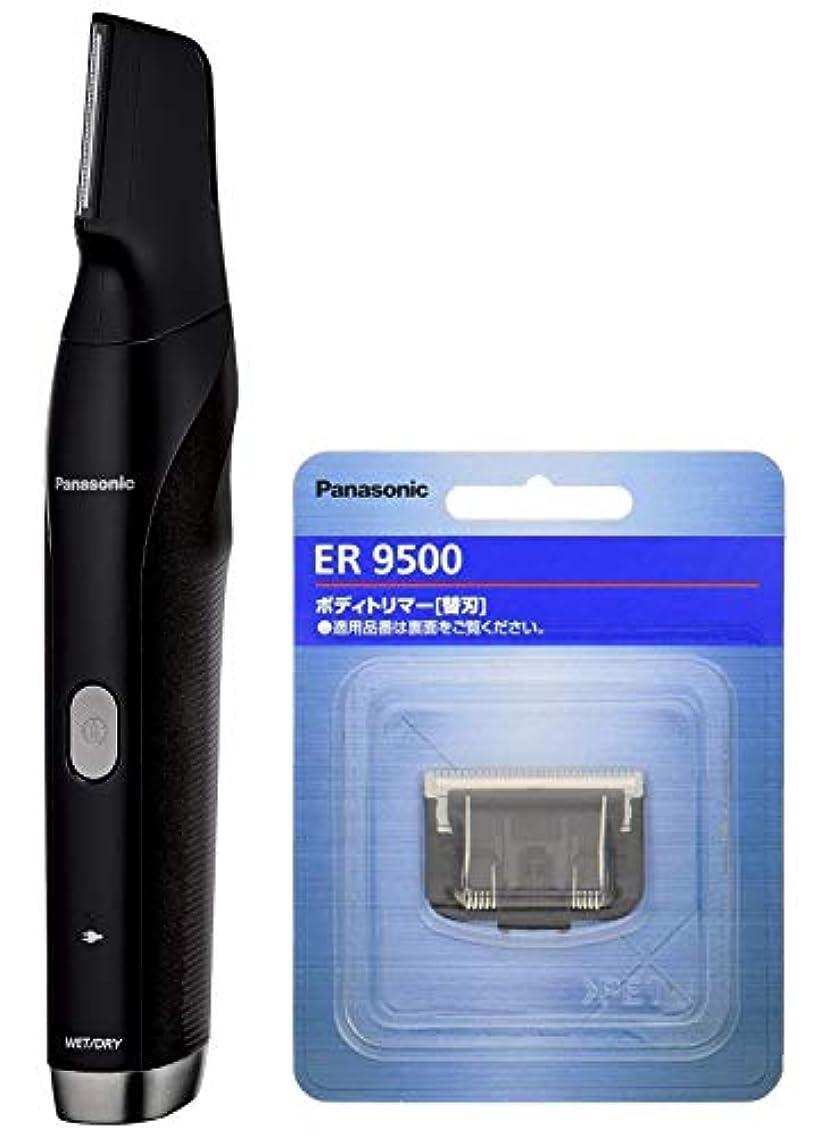 嬉しいです白鳥刻むパナソニック ボディトリマー お風呂剃り可 海外対応 男性用 黒 ER-GK80-K + 替刃 セット