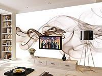 壁紙 3d 壁画 ファンタジー煙ダイナミックライン美しい装飾絵画、リビングルームのベッドルームの背景の壁の絵画 (W)250x(H)175cm