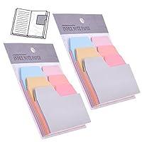 2パック/ 6カラー180ピースDivider付箋インデックスタブ用紙