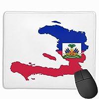 ハイチ国旗紋章シールドPCマウスパッドマウスパッドラップトップマット