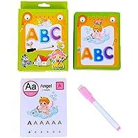 B Blesiya フラッシュカード ワードカード 子供 英語単語 数学 番号 消去可能 専用ペン付き 全3種 - 英語