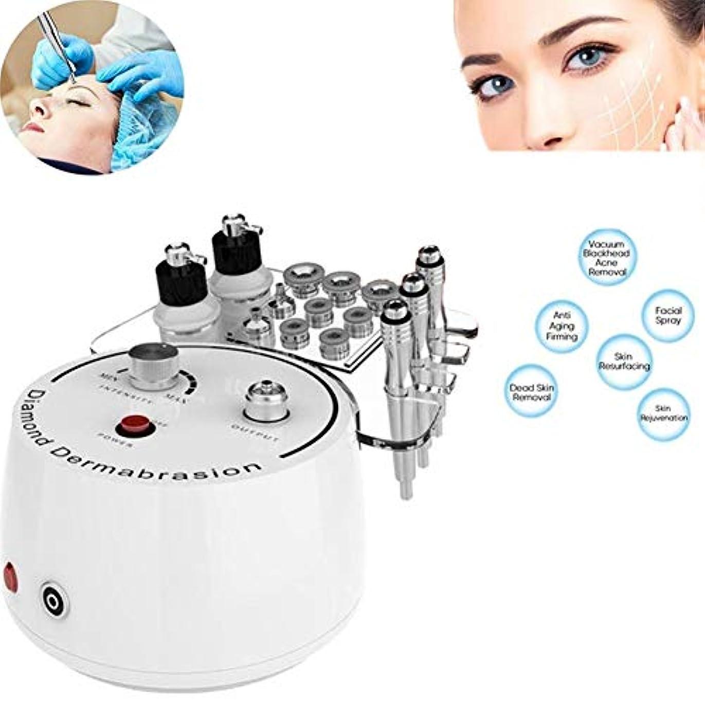 凝縮する愛撫炭素1ダイヤモンドマイクロダーマブレーション皮膚剥離機ホームフェイシャル美容機器に付き3