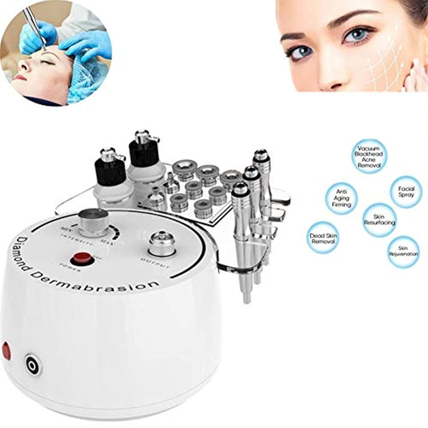前投薬粘り強いウナギ1ダイヤモンドマイクロダーマブレーション皮膚剥離機ホームフェイシャル美容機器に付き3