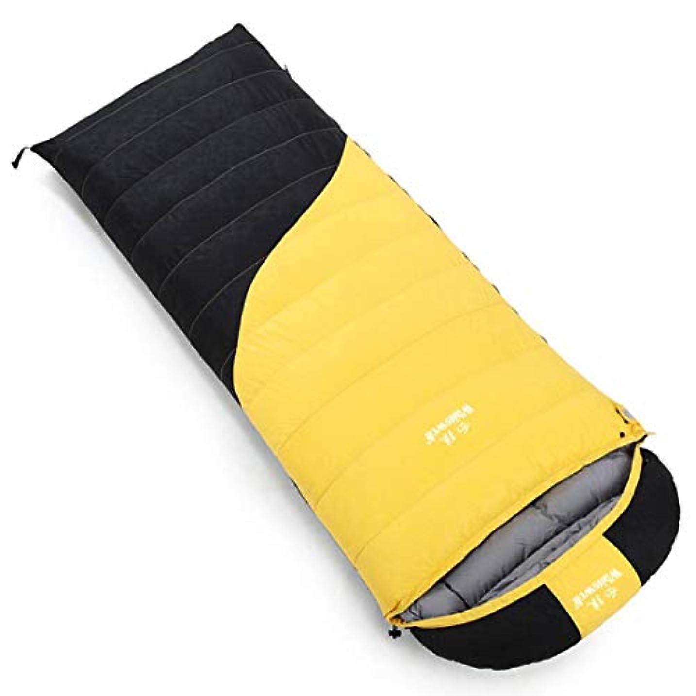 余韻吹雪キャラクターLilyAngel 寝袋暖かいフィールドポータブル封筒暖かいポータブル一緒に戦うことができる野生の屋外キャンプに適したダブル通気性の寝袋