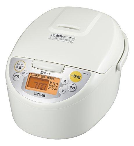 タイガー IH 炊飯器 5.5合 ホワイト 炊きたて 炊飯 ジャー JKD-V100-W Tiger