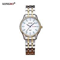 ZHANGZZ高品質、ハイエンドのファッションウォッチ, LONGBO / 80087ダブルカレンダークォーツメンズクォーツ腕時計 (Color : 8)