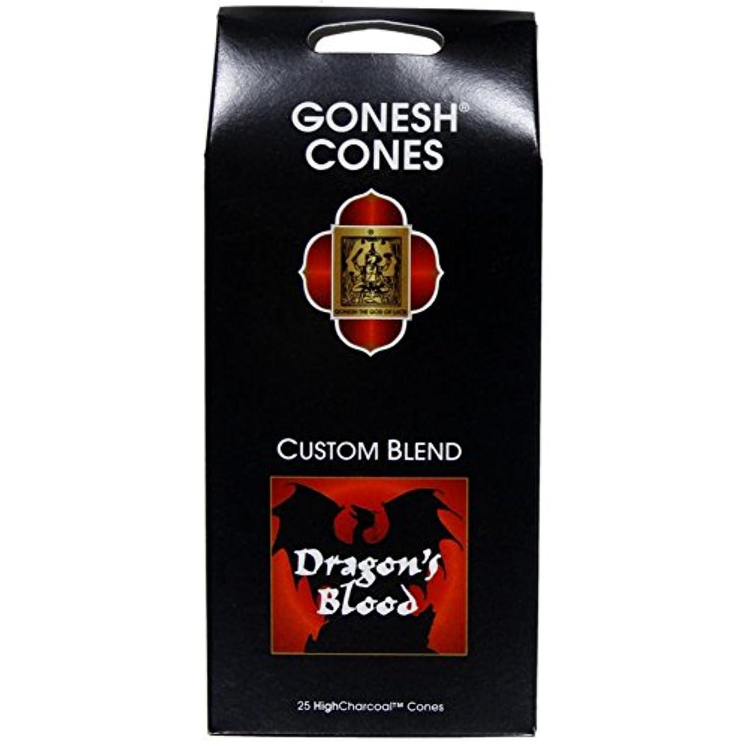 肩をすくめるボーカルパテGonesh – ドラゴンブラッドExtra Rich Incense Cones