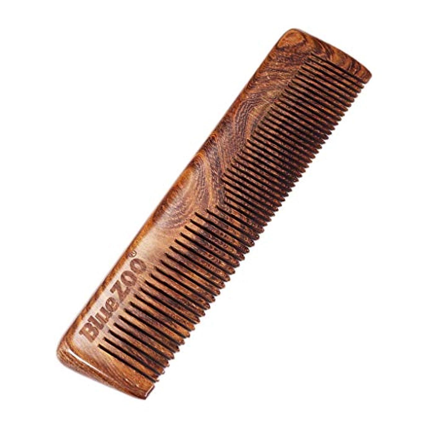 精神的に免疫立場P Prettyia ポータブル 木製櫛 ウッドコーム 帯電防止 ビアードコーム プレゼント