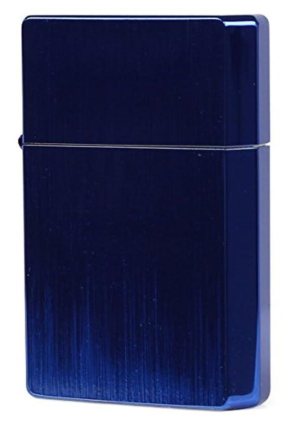 ロッジ処方する咲くギアトップ(Gear Top) ライター サンダーイオン 日本製 両面加工 イオンコーティング ブルー