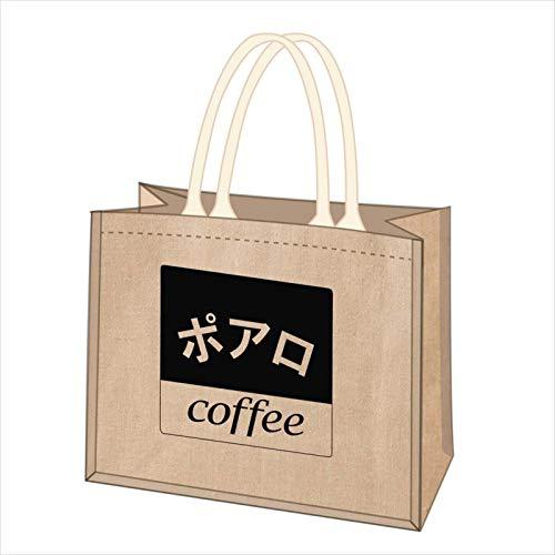 名探偵コナン 喫茶ポアロシリーズ ジュートコットンミニトート スクエアロゴ