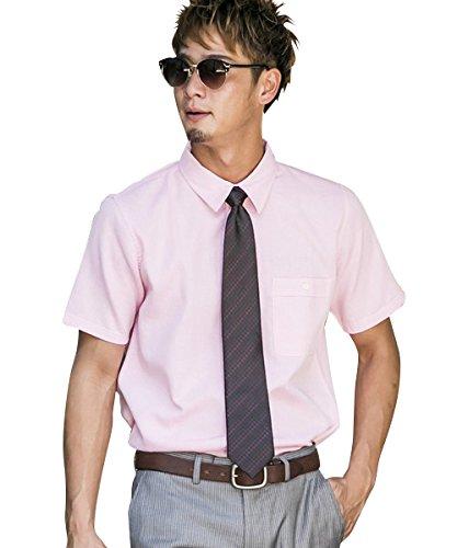 (アドミックス アトリエサブメン) ADMIX ATELIER SAB MEN メンズ シャツ 半袖 綿麻ワッフル半袖レギュラーシャツ 02-04-8593 50(L) ピンク(32) ADMIX