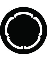 家紋シール 鐶輪紋 布タイプ 直径40mm 6枚セット NS4-3149