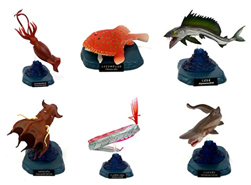 【水族館限定】海洋堂 水族館フィギュアコレクション 深海生物[特別版]コレクション台座付 日本の水族館 全6種コンプリートセット
