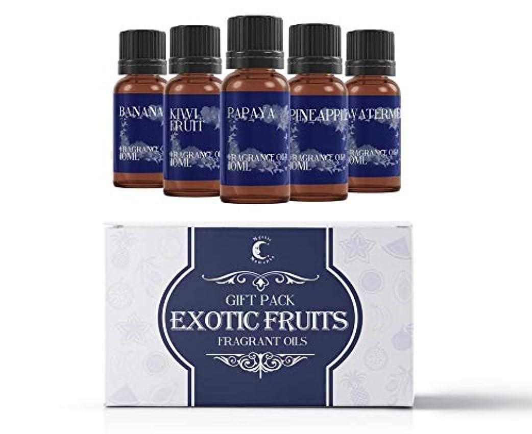 手術モルヒネ棚Mystic Moments | Fragrant Oil Starter Pack - Exotic Fruit Oils - 5 x 10ml
