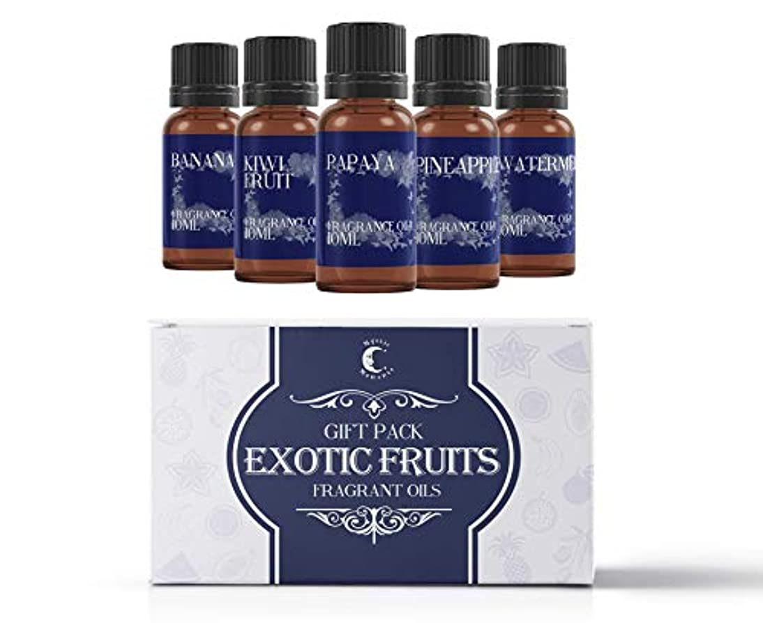 場合アクセスできないパラシュートMystic Moments | Fragrant Oil Starter Pack - Exotic Fruit Oils - 5 x 10ml