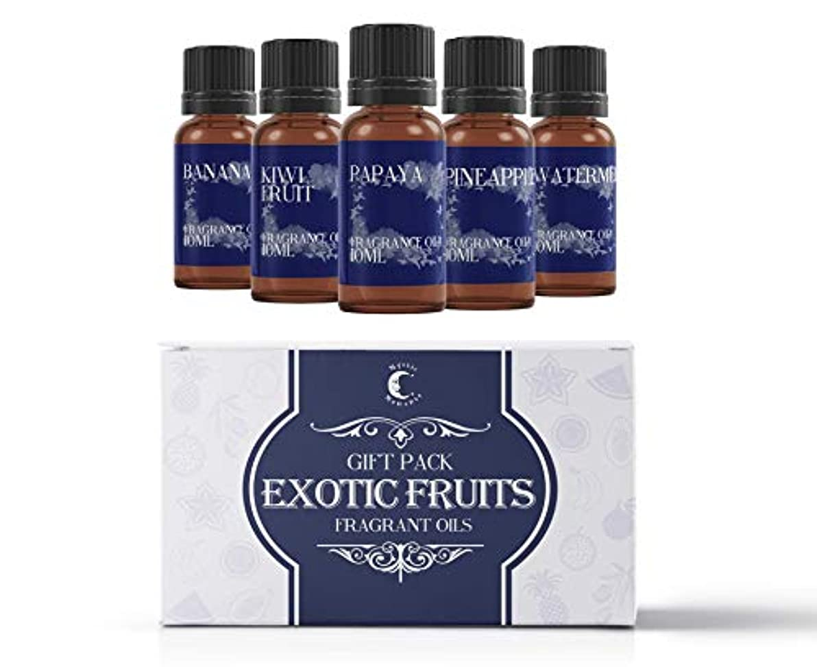 不適マーキング防止Mystic Moments | Fragrant Oil Starter Pack - Exotic Fruit Oils - 5 x 10ml