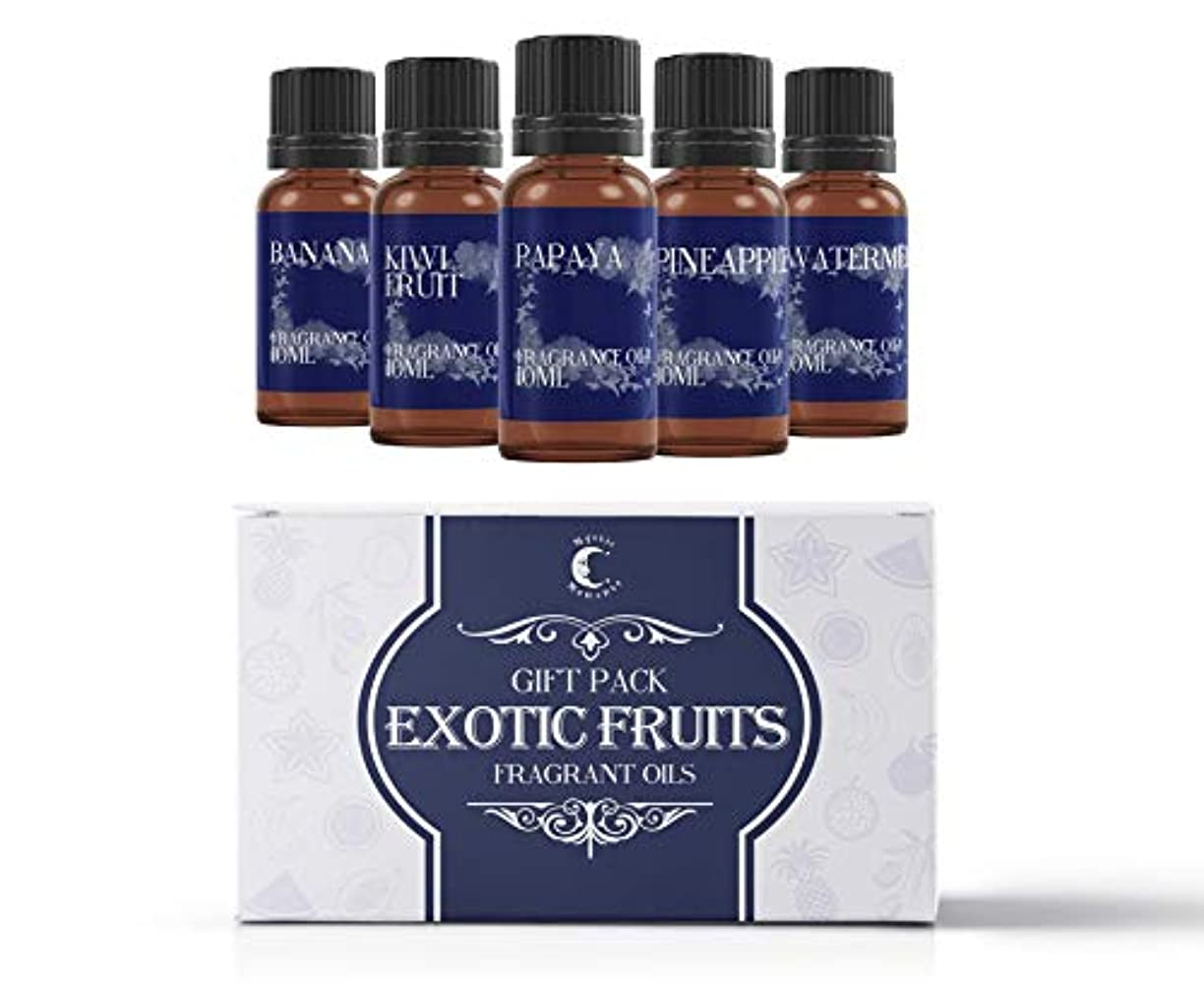 密輸蒸気素晴らしきMystic Moments | Fragrant Oil Starter Pack - Exotic Fruit Oils - 5 x 10ml