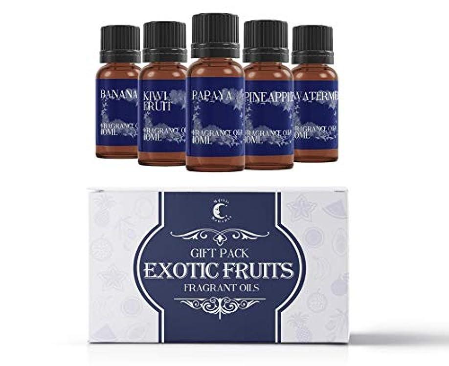 忌避剤ガラガラ国勢調査Mystic Moments | Fragrant Oil Starter Pack - Exotic Fruit Oils - 5 x 10ml