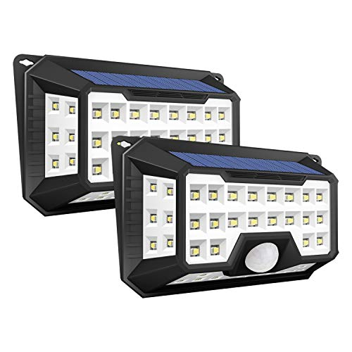 ソーラーライト 屋外 GOKU  42LED 人感センサーライト ソーラー IP65防水 3つ点灯モード 2200mAh電池内蔵 2...