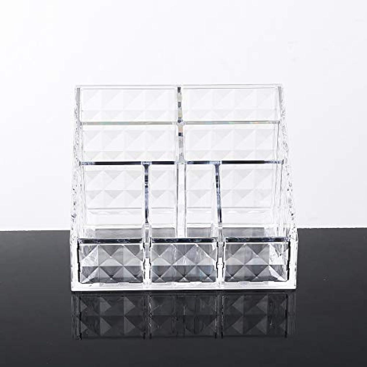 透けるチケット分離するYunNasi メイクケース収納 コスメ収納ボックス アクリル製 コスメ小物入れ?化粧品収納ケース 透明