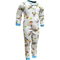 Disney Boys' Toy Story Buzz and Woody Toddler One Piece Blanket Sleeper PJ