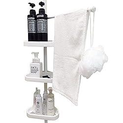 浴室 ラック 風呂 強力 つっぱり 棒 壁 ユニット バス 収納 コーナー 棚 タオル シャンプー 置き 135-250cm 2018年モデル