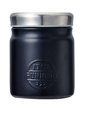 ベストコ ダブルステンレス スープ&フードジャー 380ml ブラック プラセル ND-3047 B0761K9HDW 1枚目