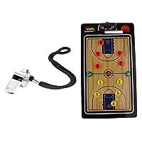 Perfk バスケットボール 対戦指導 イレースボード ホイッスル付き 指導用ツール クリップ ボード コーチ 磁気ボード