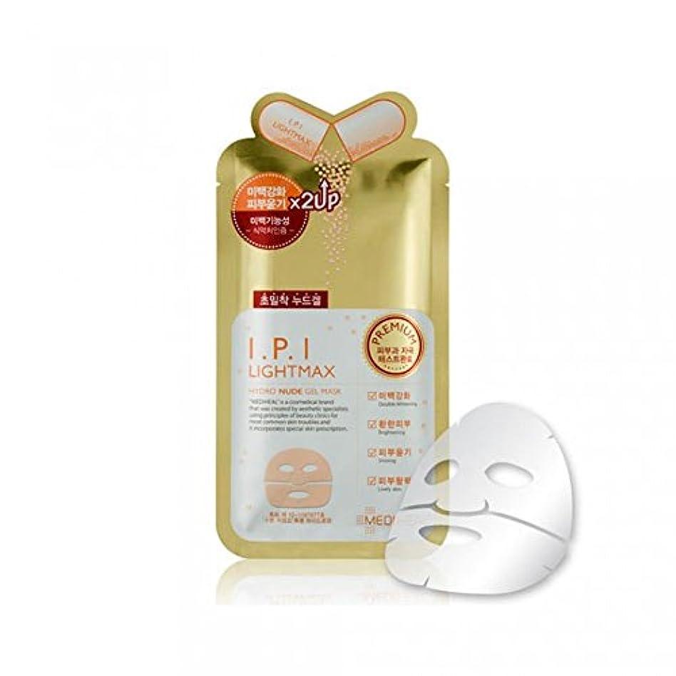 メディヒール プレミアム IPI ライトマックス ヌード ゲルマスク (10枚) [Mediheal premium IPI LIGHT MAX Nude Gel Mask 10 sheets] [並行輸入品]
