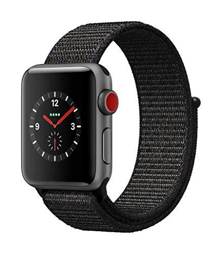 Apple Watch Series 3(GPS + Cellularモデル)- 38mmスペースグレイアルミニウムケースとグレイスポーツバンド