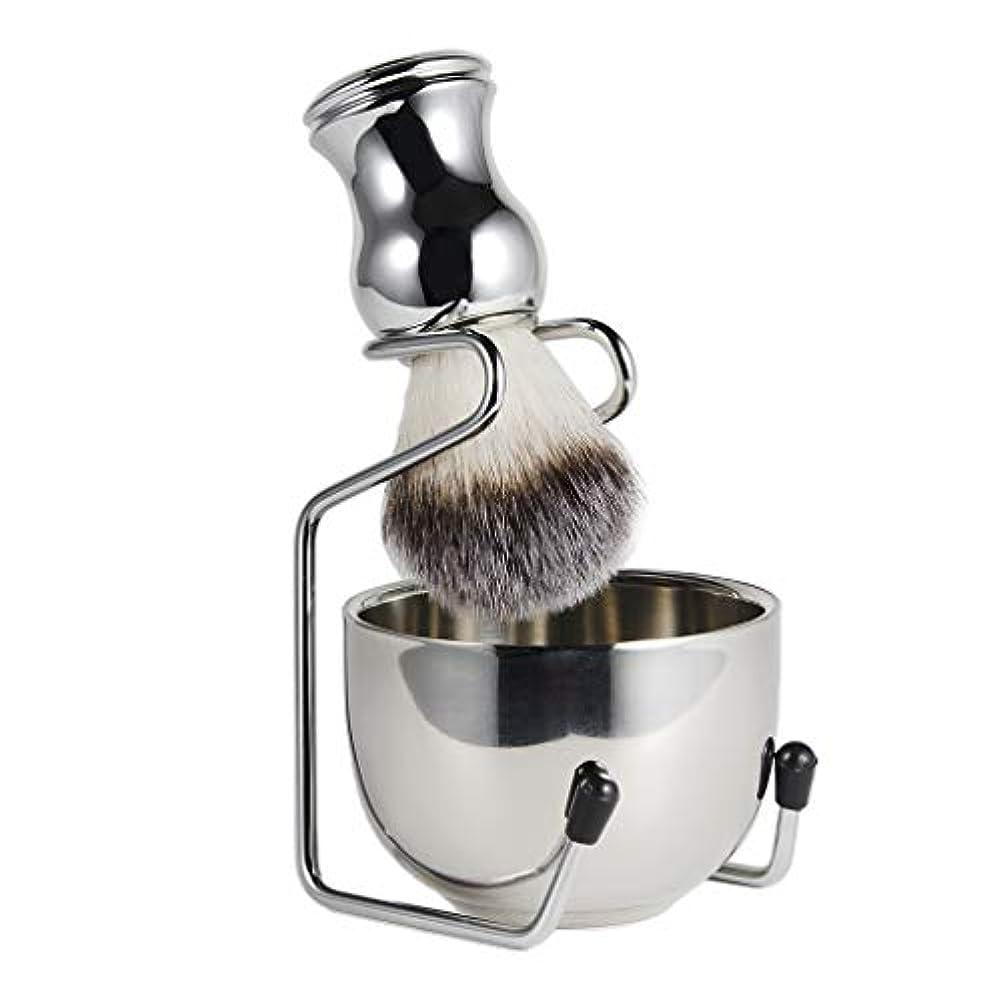 宿命消費ボーダーsharprepublic メンズ シェービングブラシセット 石鹸ボウル シェービングスタンド 髭剃り 泡立ち