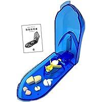 wumio ピルカッター 説明書付き 切りやすさを追求 動くツマミでしっかり固定 簡単操作で錠剤・薬・タブレットを2分割する錠剤カッター