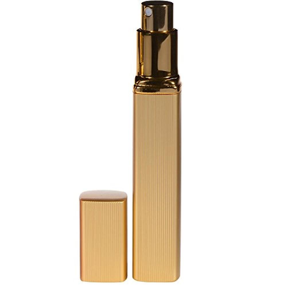 するコンピューターライナー大人香るアトマイザー  男女兼用 メンズ レディース かわいい ロート付き アトマイザー 香水瓶 噴霧器 香水吹き 詰め替え 12ml (1個, ゴールド)