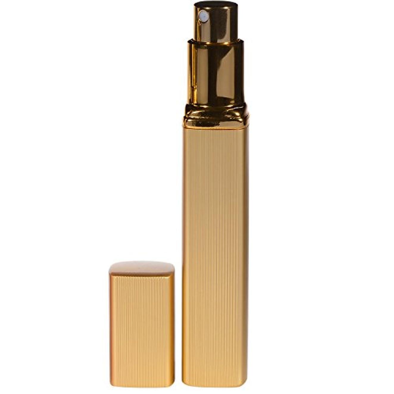 折る裁量ほこり大人香るアトマイザー  男女兼用 メンズ レディース かわいい ロート付き アトマイザー 香水瓶 噴霧器 香水吹き 詰め替え 12ml (1個, ゴールド)
