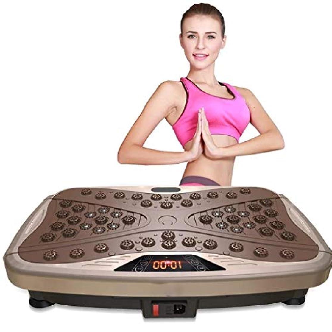 プラカードプレミア著名な減量マシン、ジム/ホームフィットネス全身振動トレーナー、ジムホームオフィスの振動で余分な脂肪を減らす